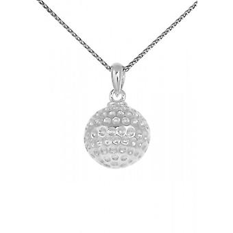 Cavendish French Round silver golf ball pendant without Chain