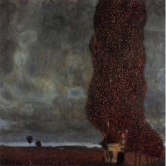 The Large poplar, Gustav Klimt, 40x40cm
