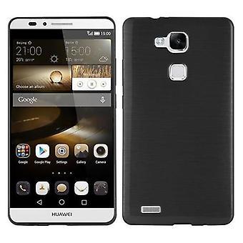 Cadorabo sag for Huawei MATE 7 sag Cover-mobiltelefon sag lavet af fleksibel TPU silikone-silikone sag beskyttende sag Ultra Slim Soft tilbage Cover sag kofanger
