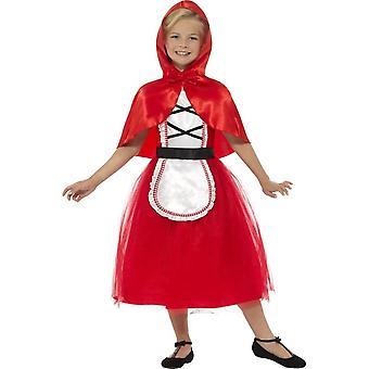 Делюкс езда Худ костюм красный, красный, с платье & Худ