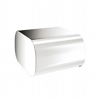 Gedy Outline Toilet Roll Holder with Cover Chrome 3225 13