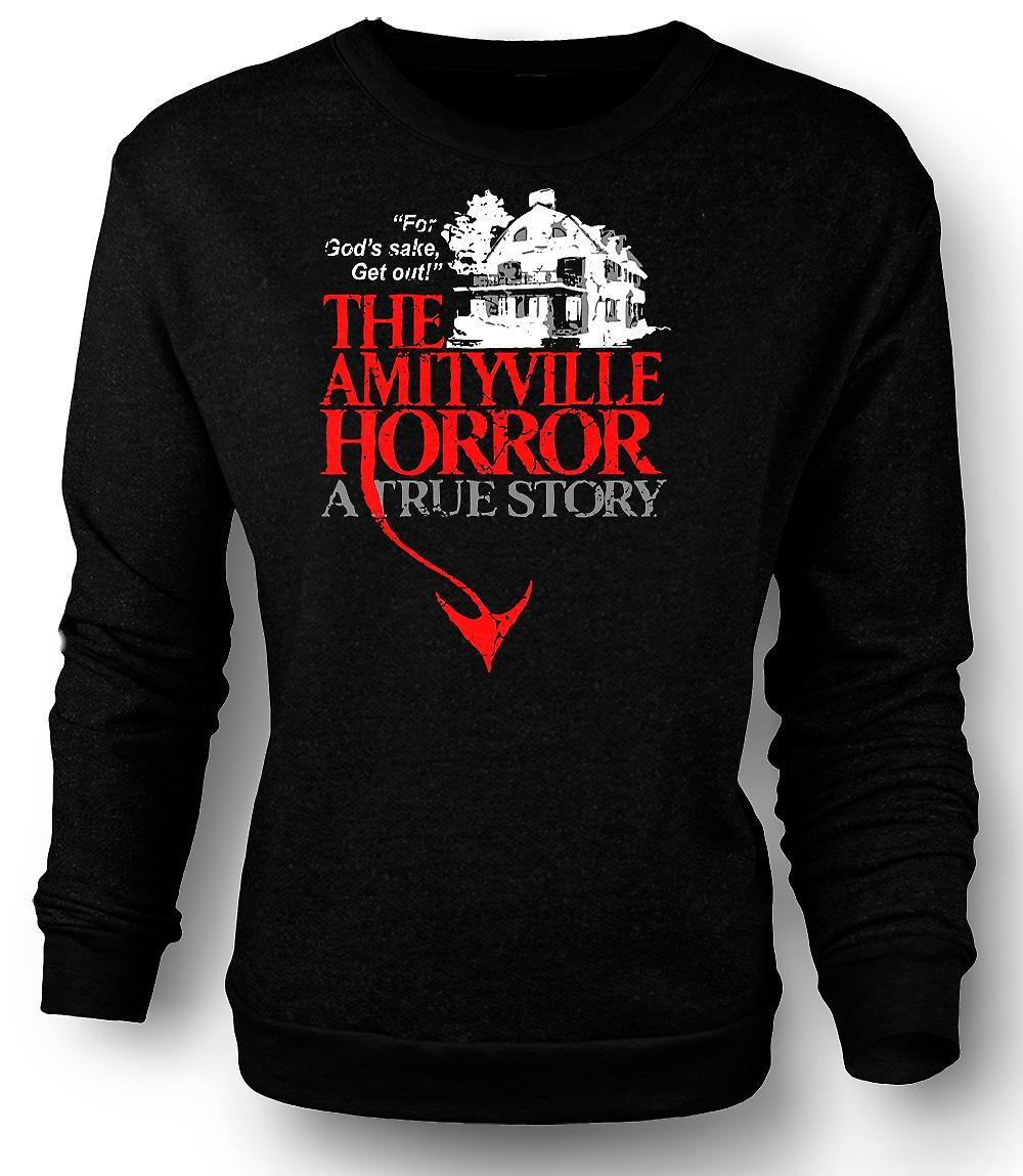 Mens Sweatshirt Amityville House - skräck - film