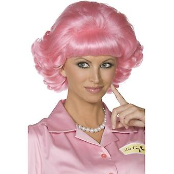 Frenchy Perücke aus Grease PINK Original Perücke Beauty