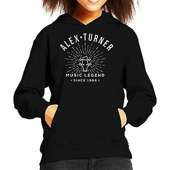 Alex Turner Music Legend Guitar Head Kid's Hooded Sweatshirt
