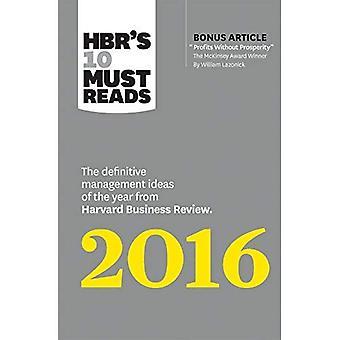10 de HBR doit 2016 lectures