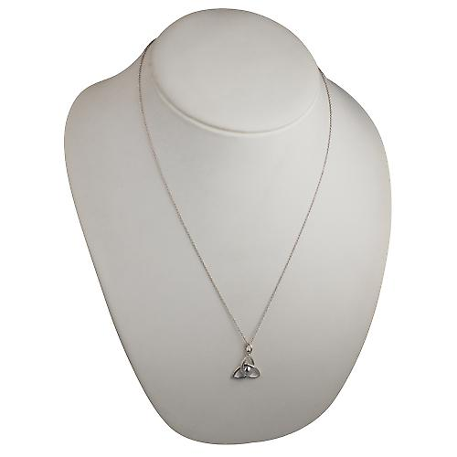 Silver 18x20mm Trinity knot Pendant with a curb Chain 22 inches
