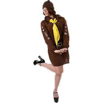 Orion Costumes Womens Brownie Girl Scout Guide Uniform Fancy Dress Costume