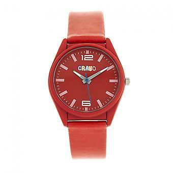 Crayo Dynamic Unisex Watch - Red