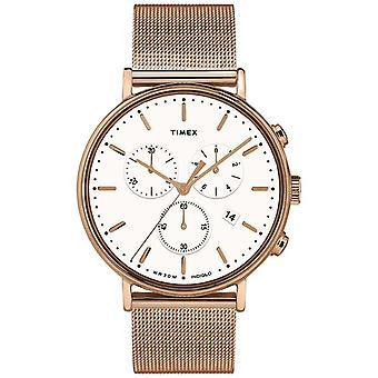 Timex | Fairfield Chrono White Dial | Rose Gold Tone fallet | TW2T37200D7PF klocka