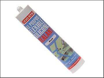 Evo-Stik 112872 All Purpose Flex Silicone Sealant Black C20