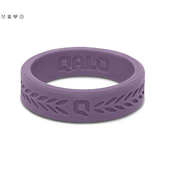 Qalo Womens Laurel Q2X Silicone Ring with Carrying Case - Lilac