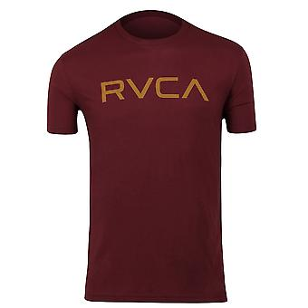 RVCA Mens Big RVCA Mens Vintage Wash T-Shirt - Tawny Port Red