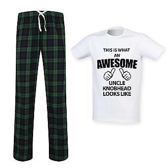 Mens c'est quoi un oncle génial Knobhead ressemble ensemble Pyjama Tartan