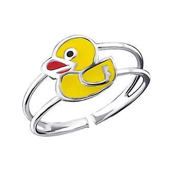 Children's Sterling Silver Duck Adjustable Ring