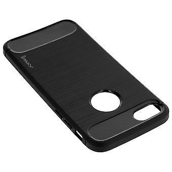 IPhone 7/iPhone 8 Soft Back noir gel silicone-finition carbone