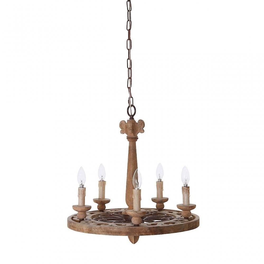 Premier Home Paxton Chandelier, Wood, Brown