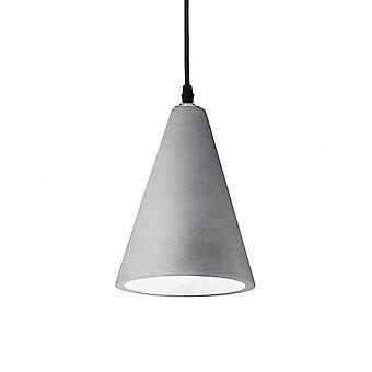 Ideal Lux Oil 2 Single Pendant Light Cement Stone