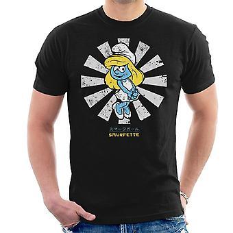 Smurfin retro Japanse Smurfen mannen ' s T-shirt