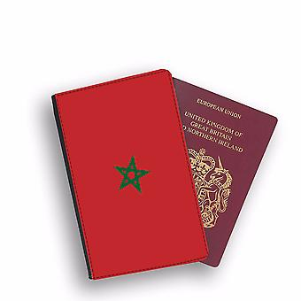 MOROCCO Flag Passport Holder Style Case Cover Protective Wallet Flags design