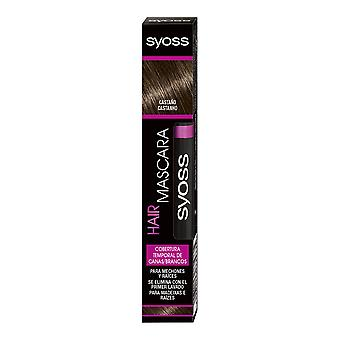 Syoss Hair Mascara Cobertura Temporal #castaño 16 Ml für Frauen