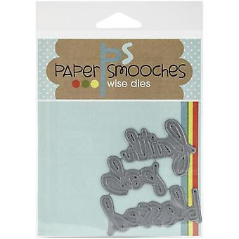 Paper Smooches Die-religieux mots - FBD198
