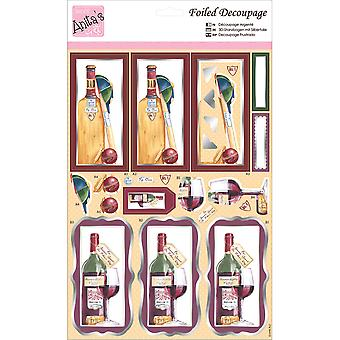 Anita's A4 Foiled Decoupage Sheet-Cricket & A Tipple A169611