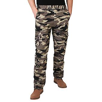 KRISP  Mens Combat Military Army Camouflage Cargo Trousers Pants Casual Work Fashion
