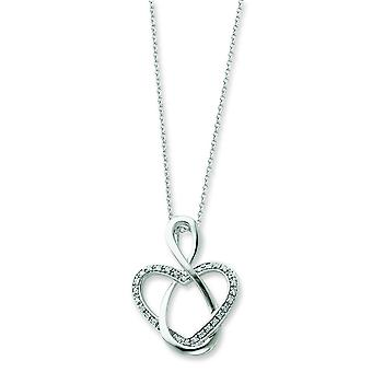 Collana in argento Sterling CZ - 18 pollici