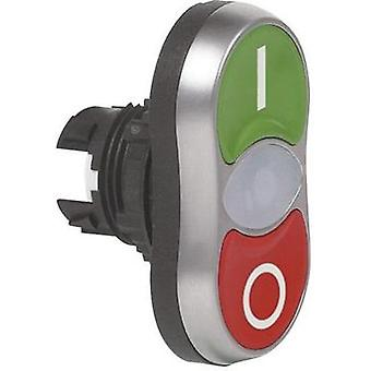 Double head pushbutton Front ring (PVC), chrome-plated Green/red BACO L61QB21 1 pc(s)