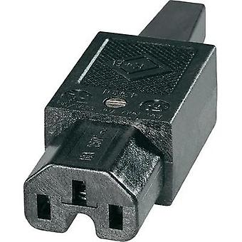 Hot wire connector C15 ATT.LOV.SERIES_POWERCONNECTORS 43R Socket, straight Total number of pins: 2 + PE 10 A Black K & B