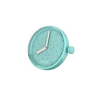 O clock clock Crystal Turquoise