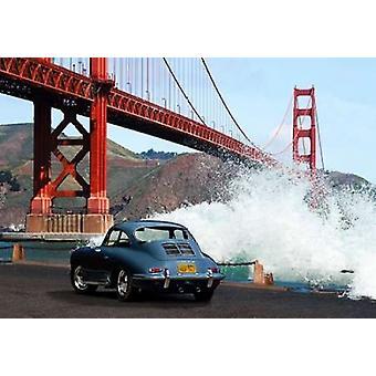 Sotto il Golden Gate Bridge - San Francisco Poster stampa di immagini di benzina