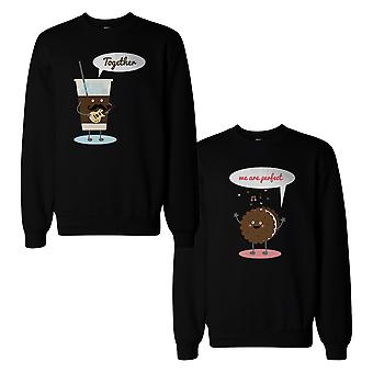 Ice Coffee And Cookie Couple Sweatshirts Cute Matching Sweat Shirts