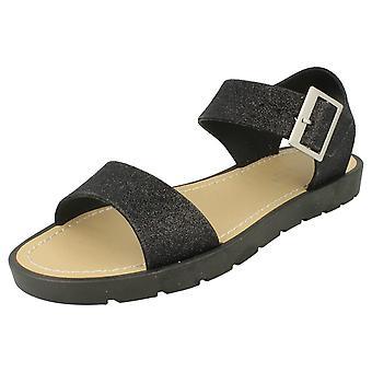 Ladies Glitter Thick Strap Summer Sandals