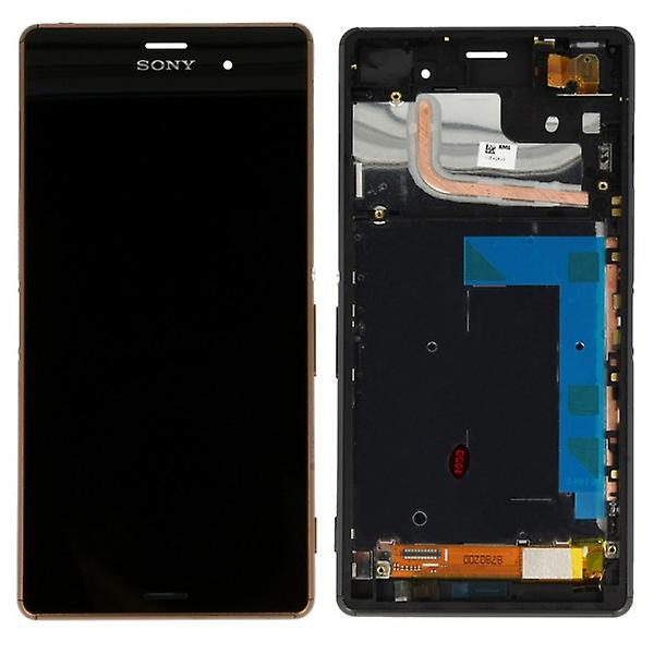 Original Sony Display LCD complete unit with frame for Xperia Z3 D6603 Copper