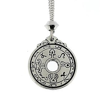 Handmade Healers Talisman Seal of Solomon The Black Pullet Pewter Pendant ~ 22 inch Chain