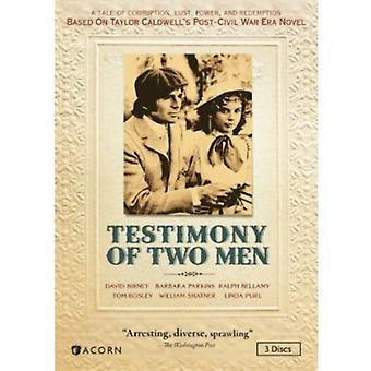 Testimony of Two Men [DVD] USA import