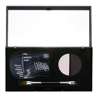 Hi Brow 24hr Brow Powder Compact - Dark Charcoal