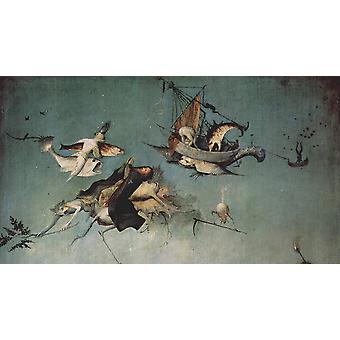 Hieronymus Bosch - Flying Fish Poster Print Giclee