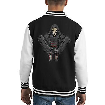 Overwatch Reaper Death Comes Kid's Varsity Jacket