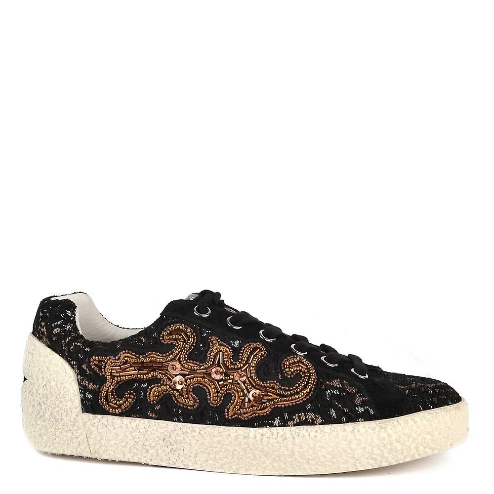 Ash scarpe Nymphea nero Suede e Trainer stampato | Alta sicurezza  | Uomini/Donna Scarpa