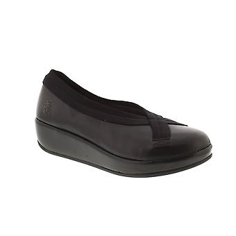 Fly London Bobi - Black Mousse Leather Womens Shoes