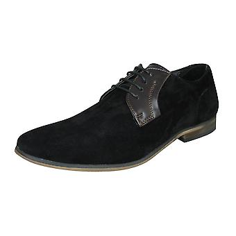 Lambretta Sol Mens Smart Casual Lace Up Shoes - Black