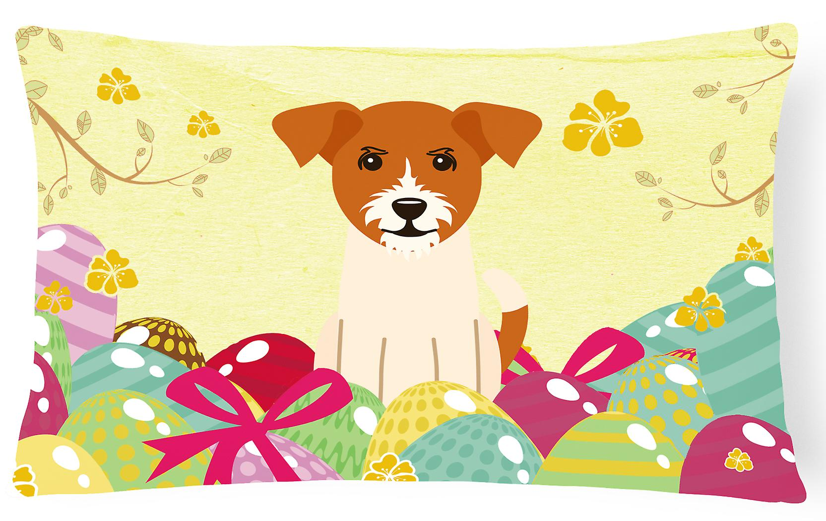 Jack Terrier Pâques Oreiller Toile Tissu De Oeufs Russell Décoratif 0P8nOwkXN