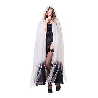 Hooded Cape White Ladies W/Black Ombre Finish