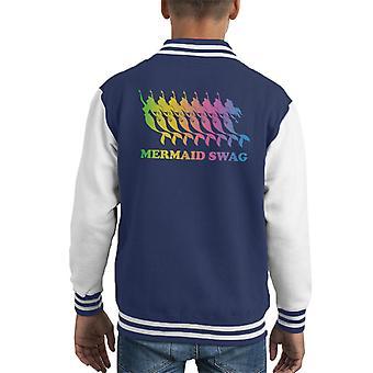 Mermaid Swag Kid's Varsity Jacket