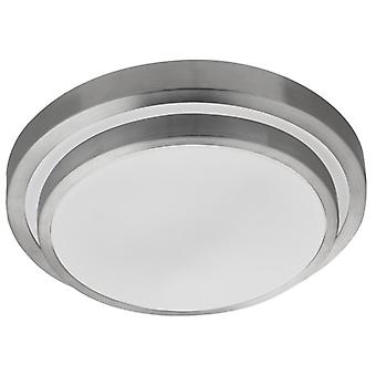 Brushed Aluminium Two-tiered Led Bathroom Flush Fitting - Searchlight 7402-34