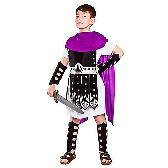Guerriero romano Boy bambini Fancy Dress Costume tunica, armatura braccio & gambali