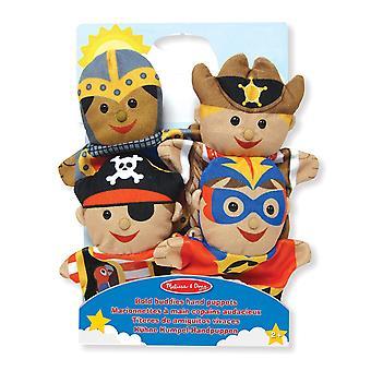 Melissa & Doug Bold Buddies Puppets Knight Pirate Sheriff Superhero