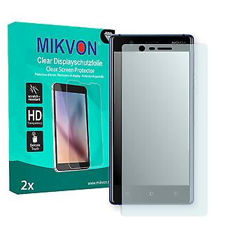 Nokia 3 Screen Protector - Mikvon Clear (Retail Package with accessories) (intentionally smaller than the display due to its curved surface)